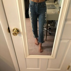 CARMAR SIDE RIPPED JEANS